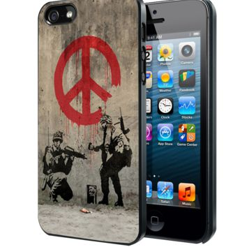 Soldiers Painting Peace Samsung Galaxy S3 S4 S5 S6 S6 Edge (Mini) Note 2 4 , LG G2 G3, HTC One X S M7 M8 M9 ,Sony Experia Z1 Z2 Case