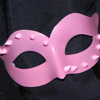 Pink Mask with Stud and Spike Accents