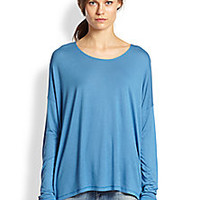 Vince - Slouched Oversized Tee - Saks Fifth Avenue Mobile