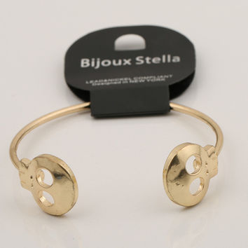 Skull Alloy Bangle