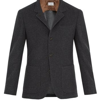 Patch-pocket brushed-cashmere blazer | Brunello Cucinelli | MATCHESFASHION.COM UK