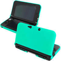 Mint Green Hard Rubberized Case Cover for New 2015 Nintendo 3DS XL