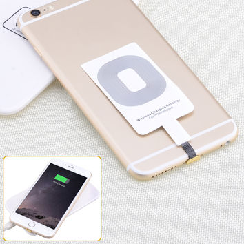 Qi Standard Wireless Phone Charging Receiver for iPhone6   iPhone6 Plus  More - White