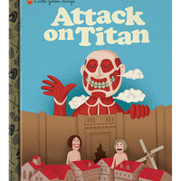 "Attack On Titan ""Little Golden Manga"" Print 10x12"