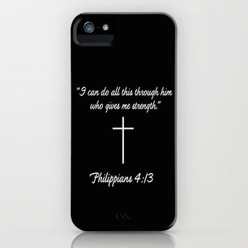 Phillipians 4:13 Gifts iPhone Case by productoslocos   Society6