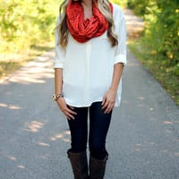 Loosen Up My Buttons Blouse - Ivory