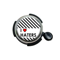 I Love Heart Haters Bicycle Handlebar Bike Bell
