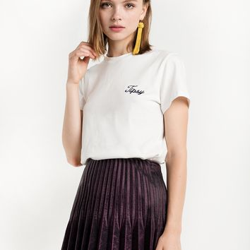 Tipsy Embroidered Tee