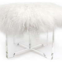 Mongolian Lamb Bench - eclectic - benches - by Jonathan Adler
