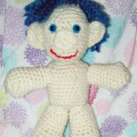 Blue Hair Troll Doll Crochet Troll Amigurumi Troll Doll Stuffed Toy