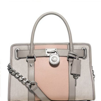 Michael Michael Kors Hamilton Center Stripe East West Satchel