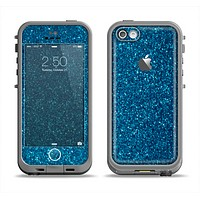 The Blue Sparkly Glitter Ultra Metallic Apple iPhone 5c LifeProof Fre Case Skin Set