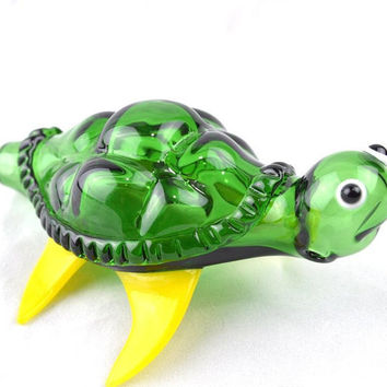 Sea Turtle Glass Smoking Bowl