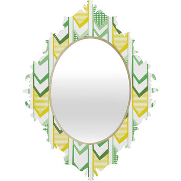 Heather Dutton Right Direction Lemon Lime Baroque Mirror