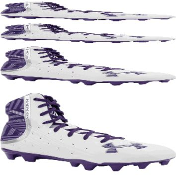 Under Armour Highlight 2 MC Women's Lacrosse Cleat - White/Purple