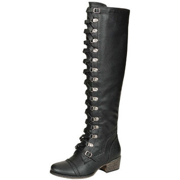 Alabama Soldier Tall Lace Up Boot