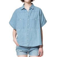 PRINTED CHAMBRAY SHIRT - Shirts - Woman - ZARA United States
