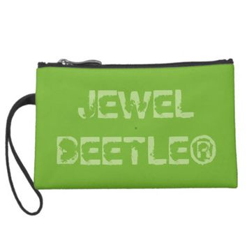 The Jewel Beetle Suede Wristlet Wallet