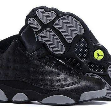PEAPONVX Jacklish Air Jordan 13 Doernbecher Black Grey For Sale