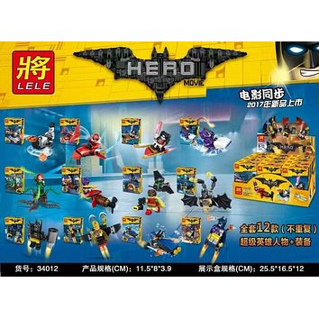 Super Heroes Movie Joker Poison Ivy Calendar of People Batman Robin Bricks Building Blocks Children Education Toys LELE 34012