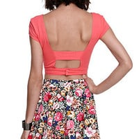 Nollie Crop Open Back Tee at PacSun.com