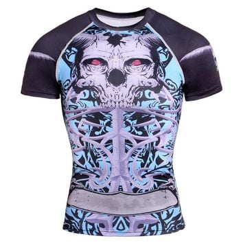 2017 Cool Punisher Skull 3D T Shirts Men Compression Shirt Super Stretch Tops Bodybuilding Crossfit Sportswear Male Tee Shirts