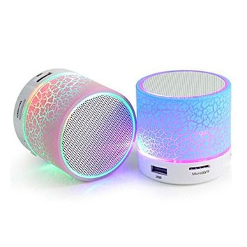 LED Light Mini Portable Bluetooth Speaker Purple Gift