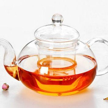 1pc New 4 Size  Hot Sale Heat Resistant Glass Teapot With Infuser Coffee Tea Leaf Herbal Classic J1010