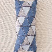 Patched Denim Body Pillow   Urban Outfitters