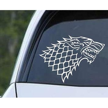 Game of Thrones House Stark Direwolf Die Cut Vinyl Decal Sticker