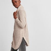 Cowl Neck Extreme Circle Hem Sweater