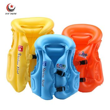 Kids Air Inflation Life Vest Water Sports Safety PVC Product Boys Girls Swimming Diving Swimwear Surfing Inflatable Life Jackets
