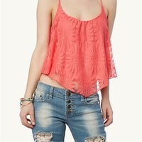 Daisy Crochet Crop Swing Tank | rue21
