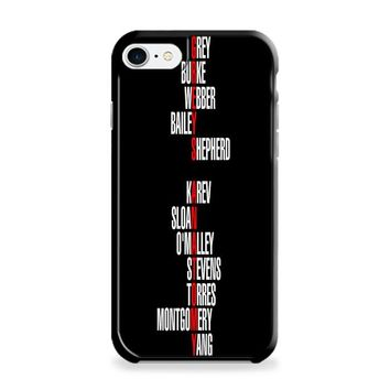 Grey's Anatomy Names iPhone 6 | iPhone 6S Case