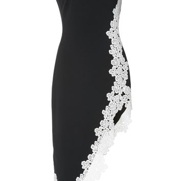 One Shoulder Lace Midi Dress | Moda Operandi