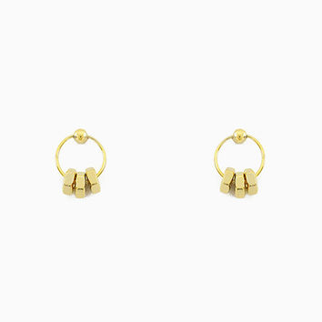 Round Bolts Earring