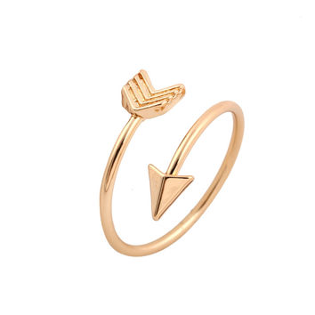 2016 New Fashion Rings Brass Small Arrow Wedding Rings for Women Gift in Party R008