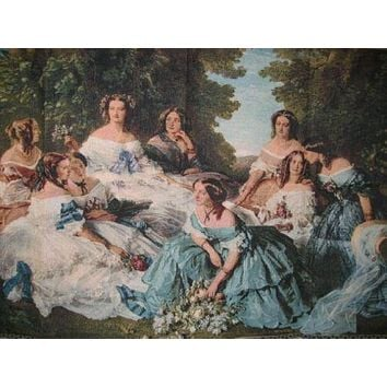 "DaDa Bedding 18th Century Party Classic French Rococo Woven Tapestry Wall Hanging - 36"" x 50"""