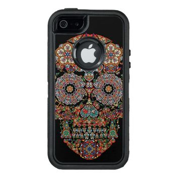 Flower Sugar Skull OtterBox Defender iPhone Case