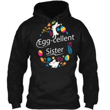 Family Matching Easter Outfit For Sister Pullover Hoodie 8 oz