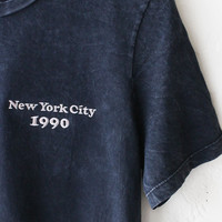 New York City 1990 Embroidered Tee