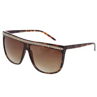 Rhinestone Straight Top Sunglasses | Shop Accessories at Wet Seal