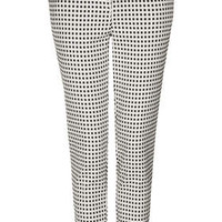 Gingham Cigarette Trousers - Ivory