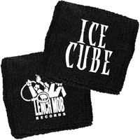 Ice Cube Men's IC And Lench Mob Logos Athletic Wristband Black