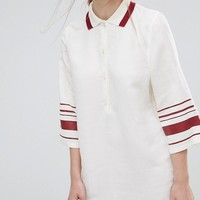 Wood Wood Caitlin Dress with Striped Sleeves at asos.com