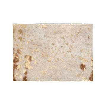 Metallic Gold Cowhide Place Mat