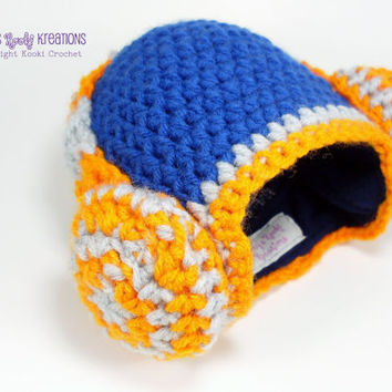 DJ Hat Crochet Baby Boy Headphone Headphones Fleece Lined  / Custom Name Embroidery Newborn Photo Prop Hipster Unique Gift