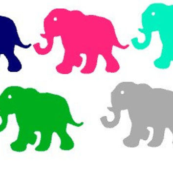 Lilly Pulitzer Inspired Tusk In Sun Elephant Indoor/ Outdoor Vinyl Decal
