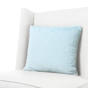 Aqua Luxe Throw Pillow by Little Giraffe