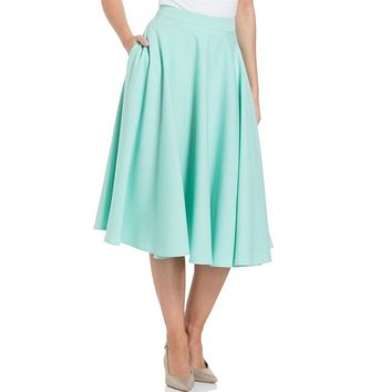 Sandy Mint Circle Flair Skirt